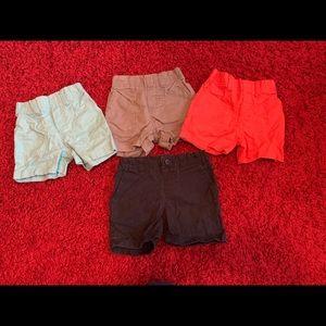 Lot of baby boy shorts; 12; 12-18 mo